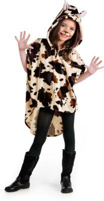 Kostüm Poncho Kuh Gr. 152/158 Mädchen Kinder