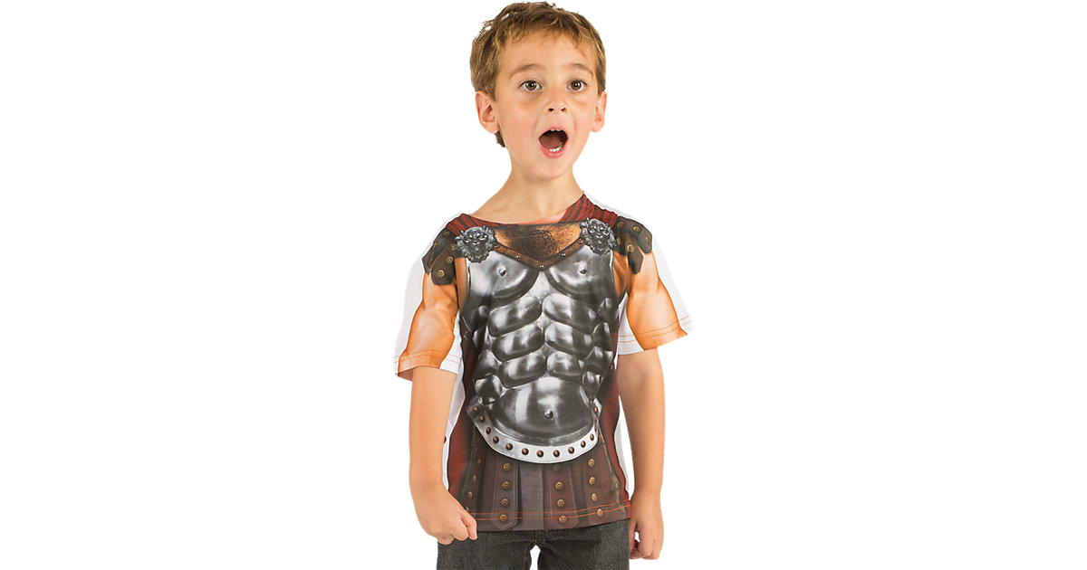 Kostüm 3D T-Shirt Gladiator braun Gr. 110/116 Jungen Kinder