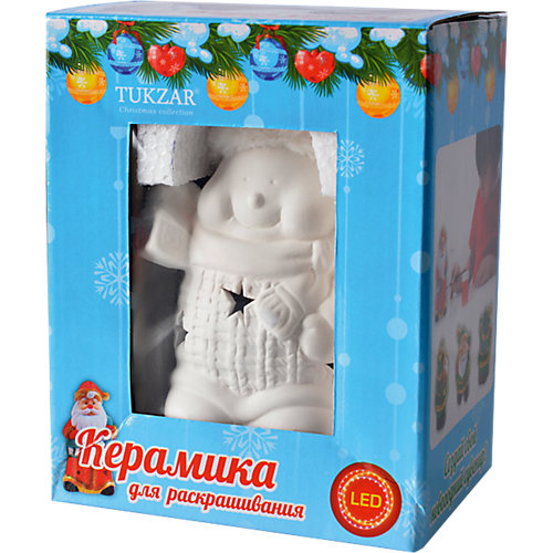 """Керамический LED-сувенир для раскрашивания """"Снеговик"""" или """"Дед Мороз"""" от TUKZAR"""