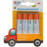 Батарейки для игрушек, тип АА, 4 шт., Roxy-kids