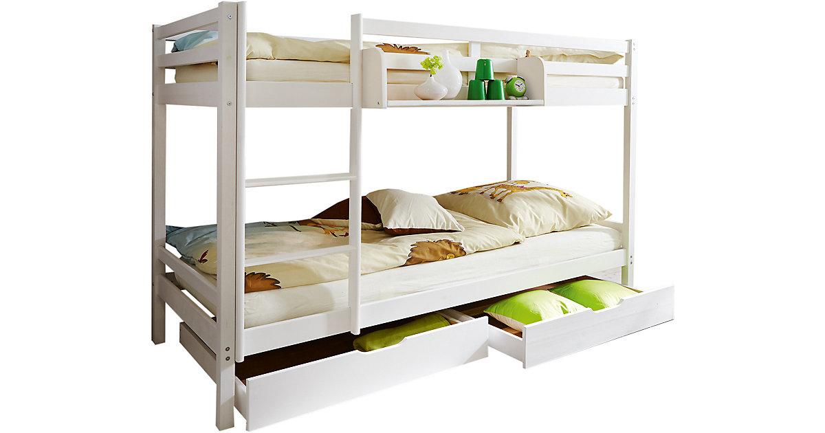 Etagenbett Moritz Kiefer Massiv Weiß 90 Cm : 90 x 200 etagenbett preisvergleich u2022 die besten angebote online kaufen