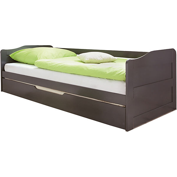 Sofabett Mit Auszug Melinda Kiefer Massiv Grau 90 X 200 Cm Ticaa