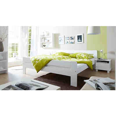 jugendbett merci kiefer massiv wei 140 x 200 cm ticaa mytoys. Black Bedroom Furniture Sets. Home Design Ideas