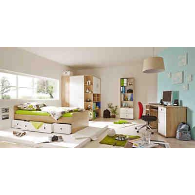 Komplett Jugendzimmer Corner 4 Tlg Einzelbett Kleiderschrank