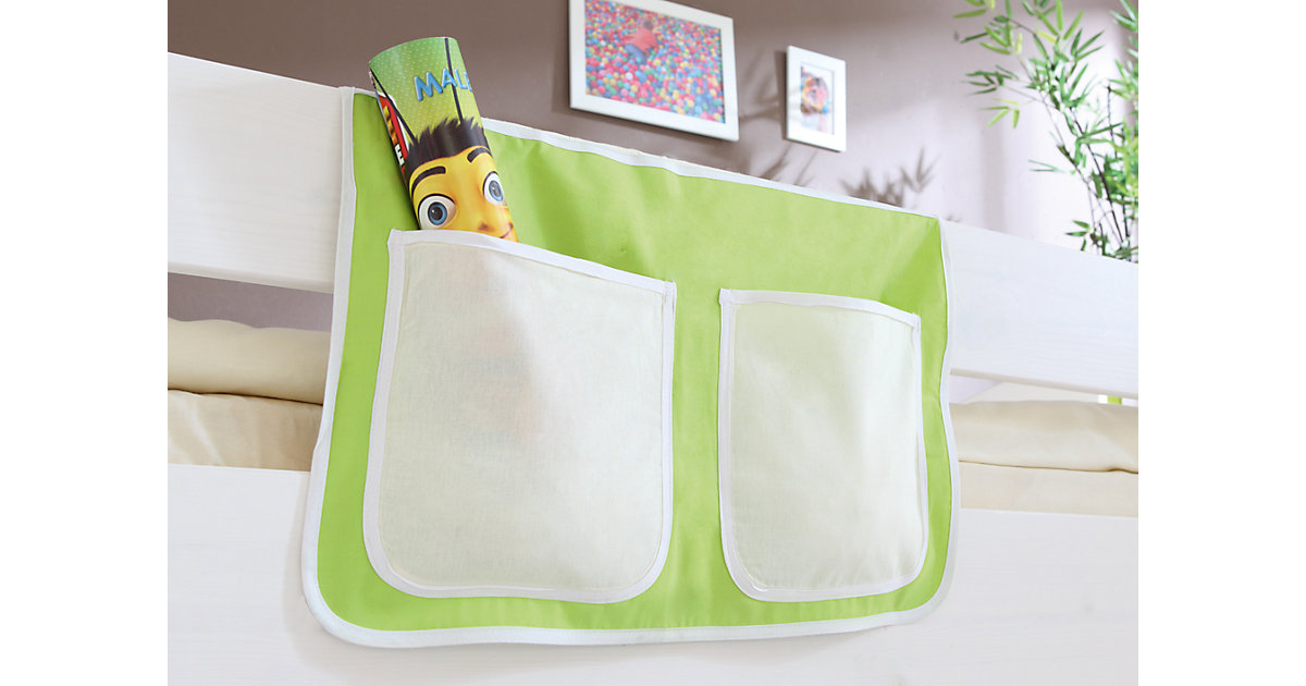 Betttasche Hoch- und Etagenbetten, beige-grün Gr. 30 x 50 Kinder