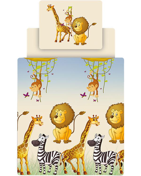 Bettwäsche Set Safari Inkl Spannbettlaken 135 X 200 Cm Ticaa Mytoys