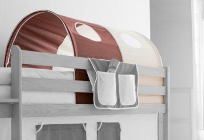 Betttasche für Hoch und Etagenbetten braun beige TICAA