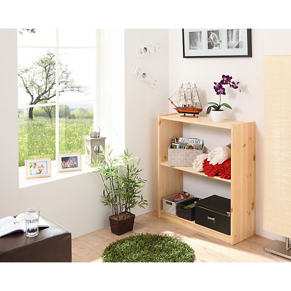 b cherregal kiefer massiv natur 92 cm ticaa mytoys. Black Bedroom Furniture Sets. Home Design Ideas