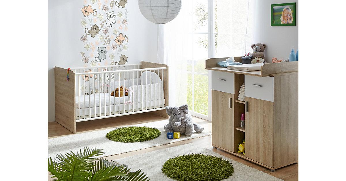 Image of Babyzimmer Nico 2-teilig Sonoma-Weiß braun/weiß Gr. 70 x 140