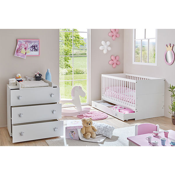 babyzimmer paula 3 tlg kinderbett schubkasten. Black Bedroom Furniture Sets. Home Design Ideas