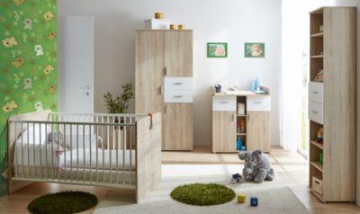 Babyzimmer Nico, 3 Tlg. (Kleiderschrank, Wickelkommode, Kinderbett), Sonoma  ...