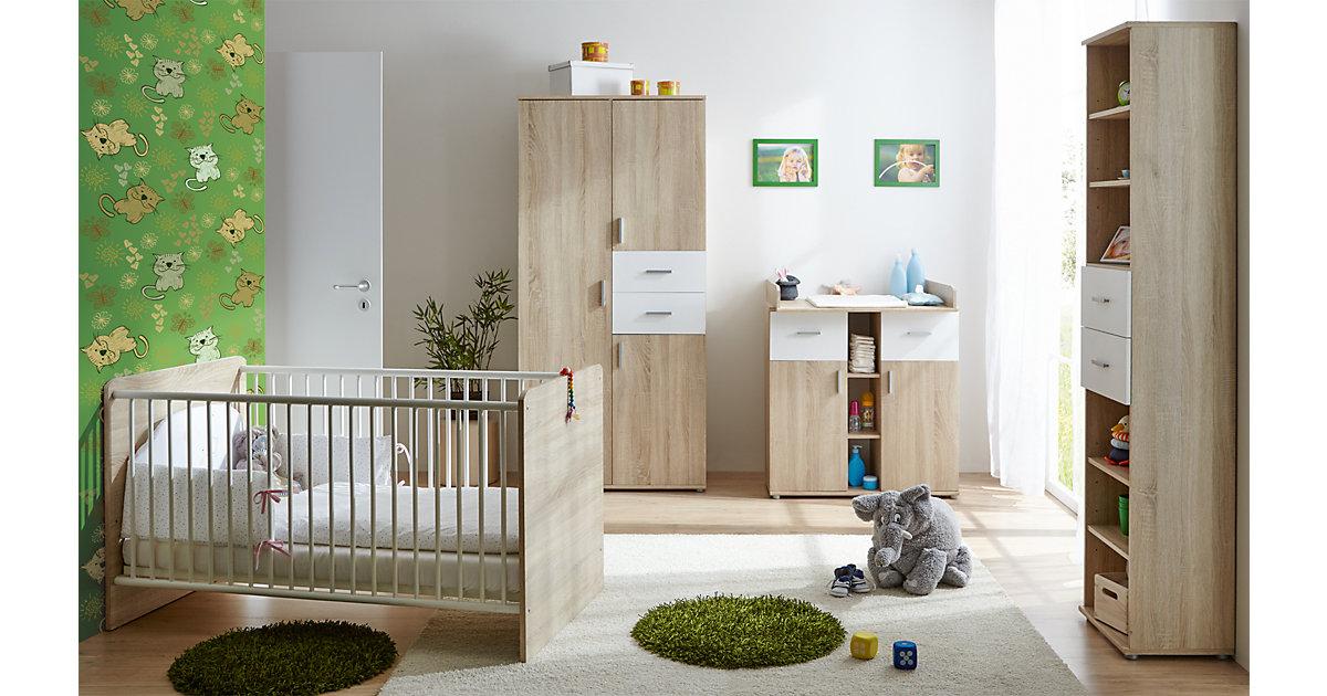 Image of Babyzimmer Nico 4-teilig Sonoma-Weiß braun/weiß Gr. 70 x 140