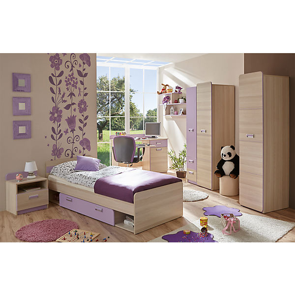 komplett jugendzimmer lori 6 tlg jugendbett. Black Bedroom Furniture Sets. Home Design Ideas