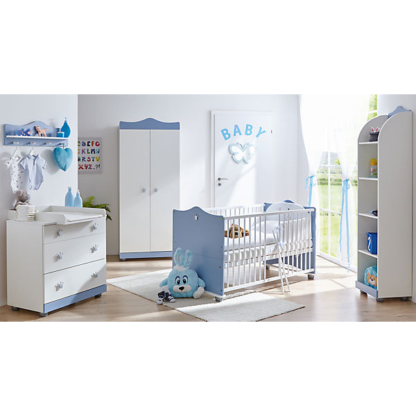 Babyzimmer Prinz, 5-tlg. (Kinderbett inkl. Lattenrost, Wickelkommode ...