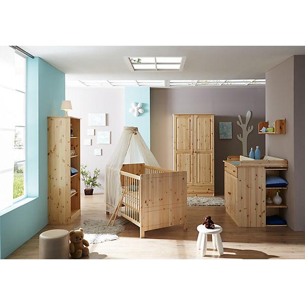 Babyzimmer möbel natur  Babyzimmer Moritz, 5-tlg. (Babybett, Wickelkommode, Anstellschrank ...
