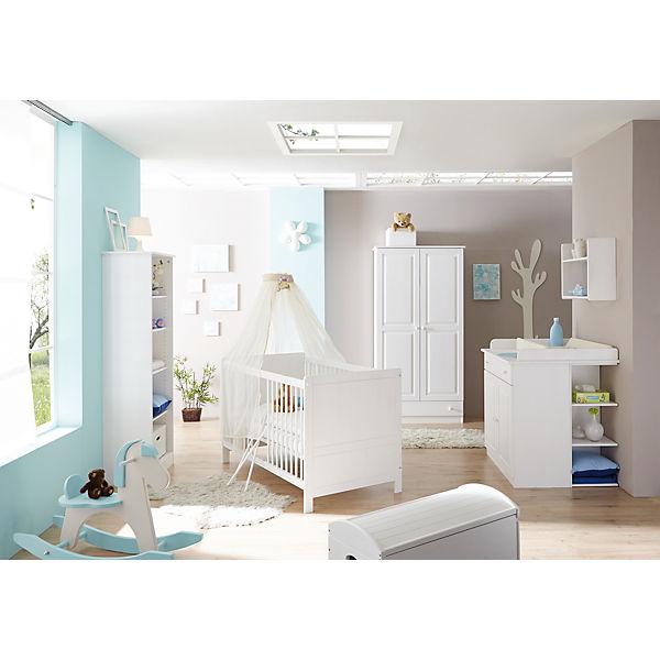 Babyzimmer Moritz, 5-tlg. (Babybett, Wickelkommode, Anstellschrank ...