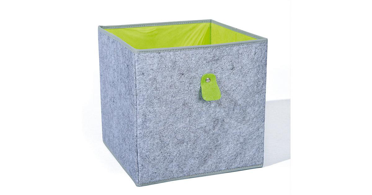 Aufbewahrungsbox, grau/grün