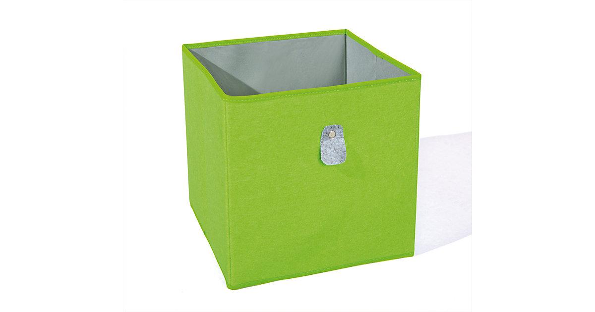 Aufbewahrungsbox, grün/grau