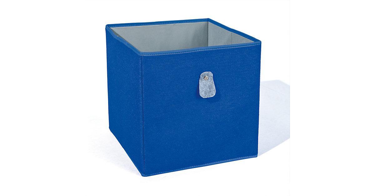 Aufbewahrungsbox, blau/grau