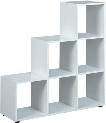 Elegant Raumteiler Lettland, 6 Fächer, Weiß Raumteiler ...