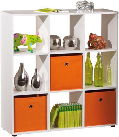 Aufbewahrungsbox orange grau