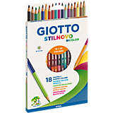 Двусторонние цветные карандаши Giotto, 18 шт, 36 цветов