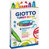 Толстые фломастеры Giotto на водной основе, 6 шт