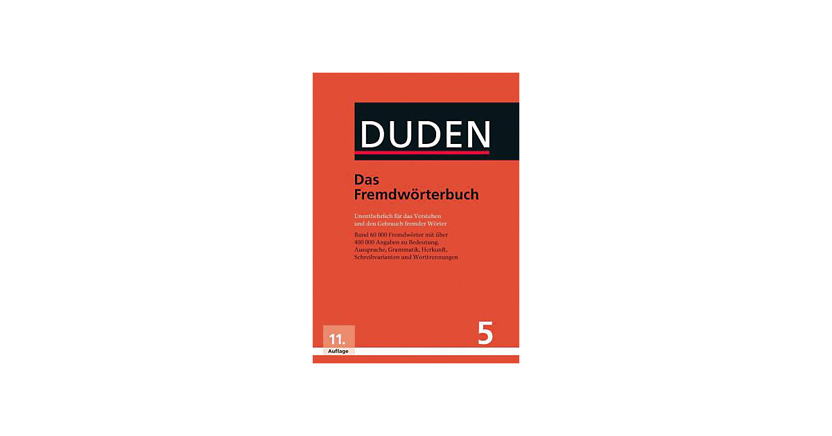 Der Duden: Das Fremdwörterbuch