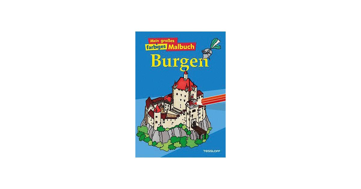 Mein großes farbiges Malbuch - Burgen