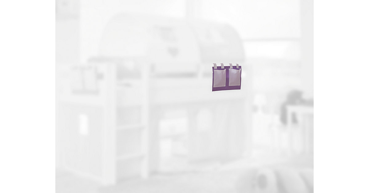 Betttasche Hoch- & Etagenbett, purple/weiß lila  Kinder