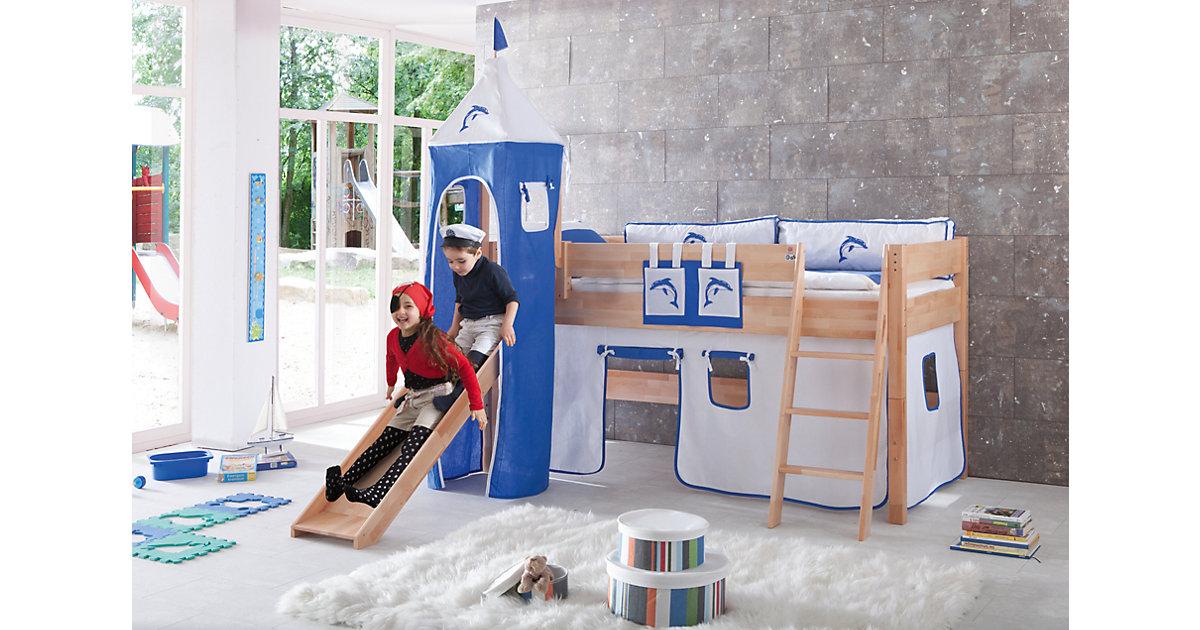 Betttasche Hoch- & Etagenbetten, Delphin weiß blau  Kinder