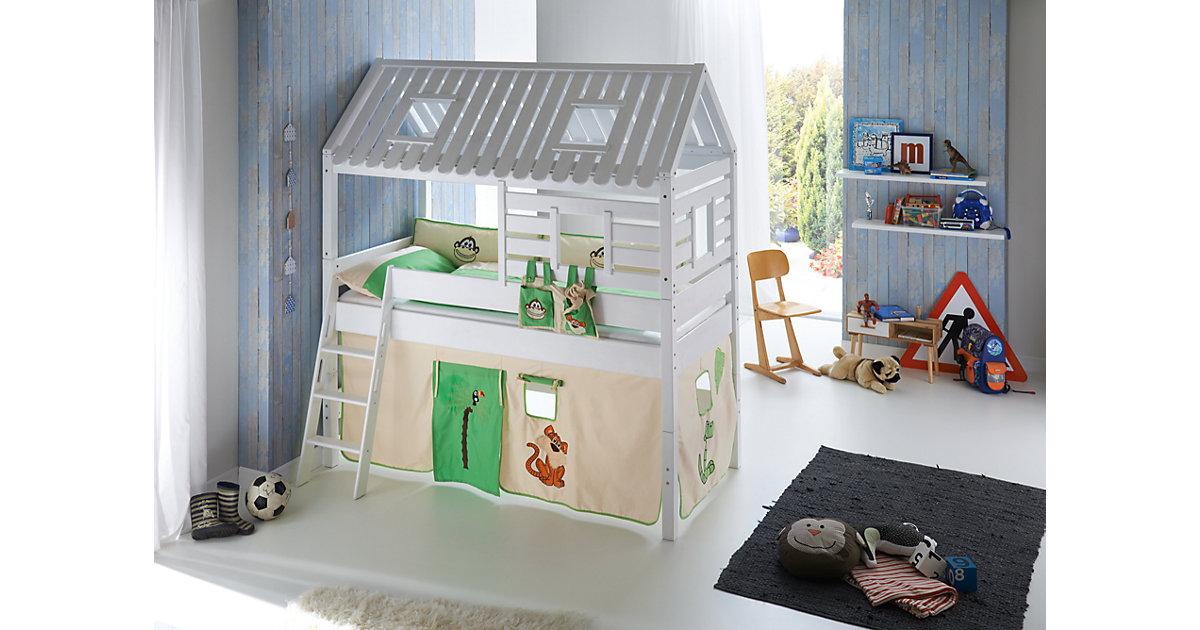 Betttasche Hoch- & Etagenbetten, Dschungel grün  Kinder