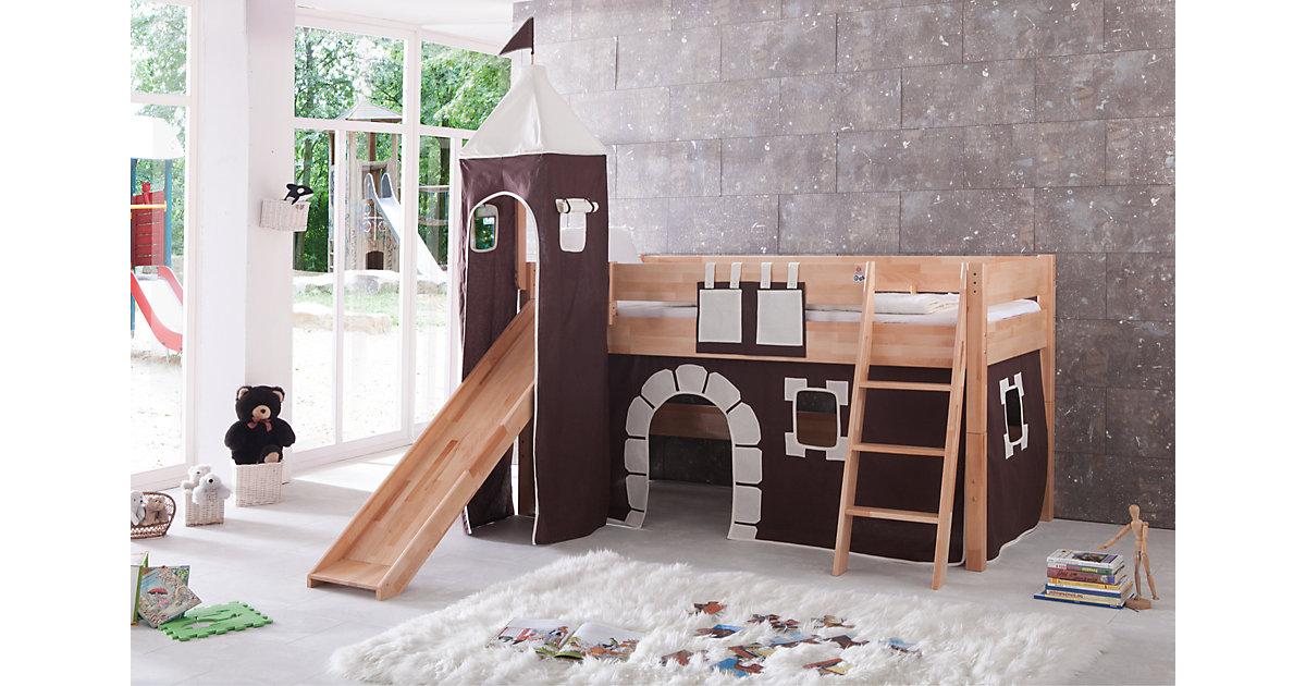 Betttasche Hoch- & Etagenbetten, Burg braun  Kinder