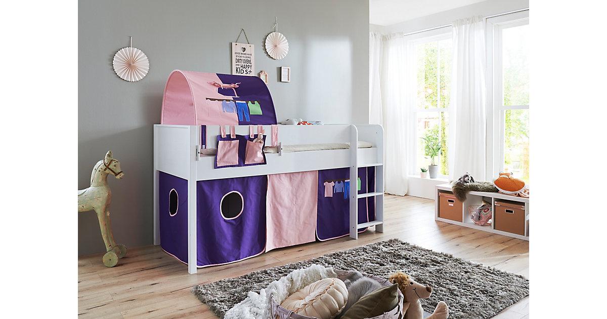 Betttasche Hoch- & Etagenbetten, rosa-violett lila  Kinder