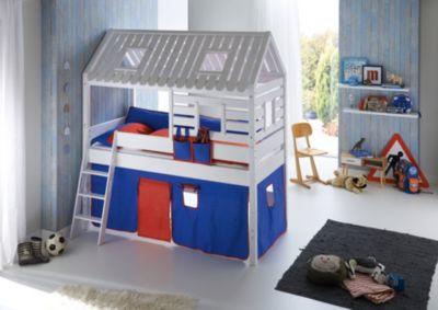 Spielbett  Spielbett LEO mit Rutsche, Buche massiv, geölt 90 x 200 cm, Relita ...