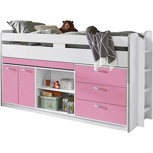 hochbett bonny wei rosa 90 x 200 cm relita mytoys. Black Bedroom Furniture Sets. Home Design Ideas