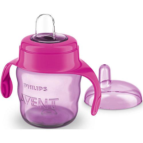 Чашка-поильник с носиком Comfort, 200 мл, Avent, сиреневый/розовый от PHILIPS AVENT