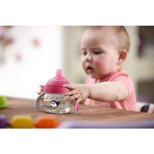 Чашка-поильник с носиком, 200 мл, от 6 мес., Avent, розовый