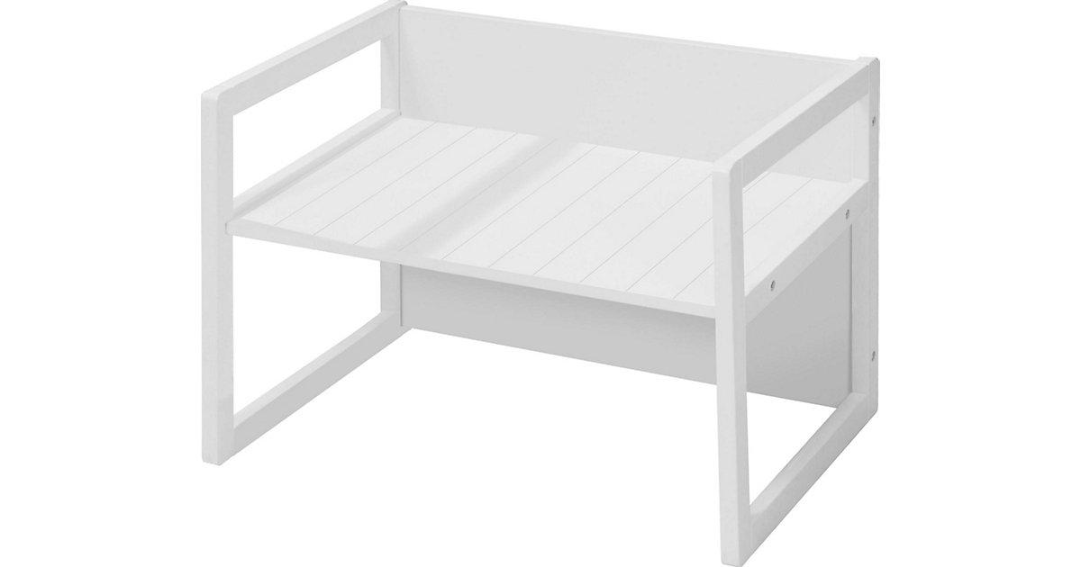 roba · Kindertisch/Sitzbank 2in1, weiß