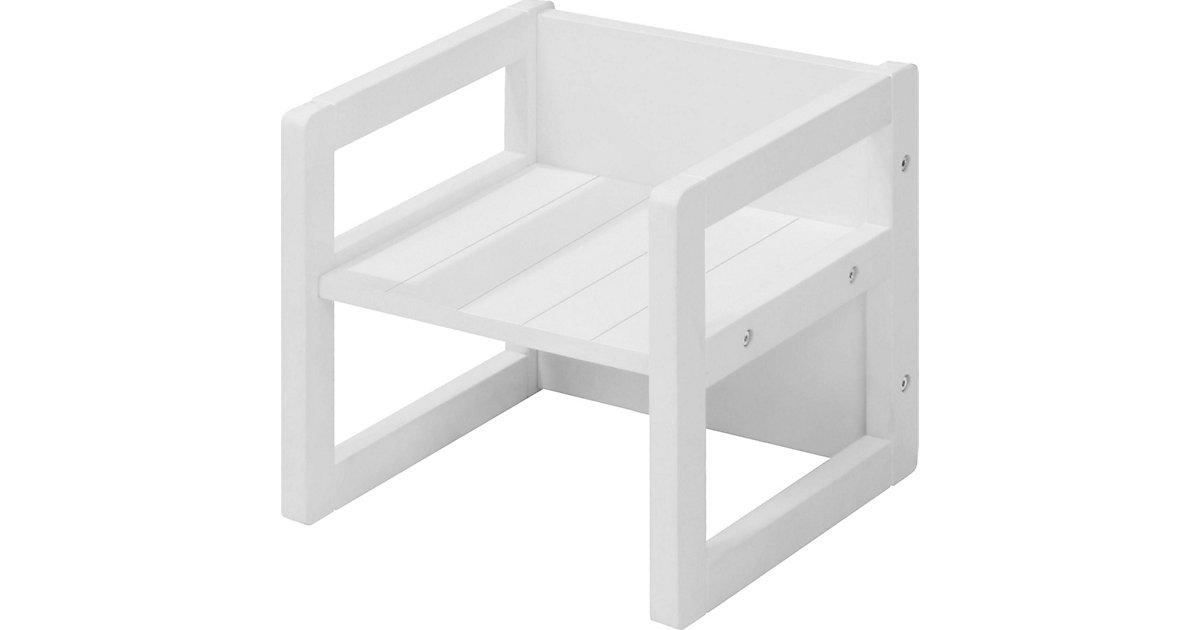 Sitzhocker/ Kindertisch 2in1, weiß
