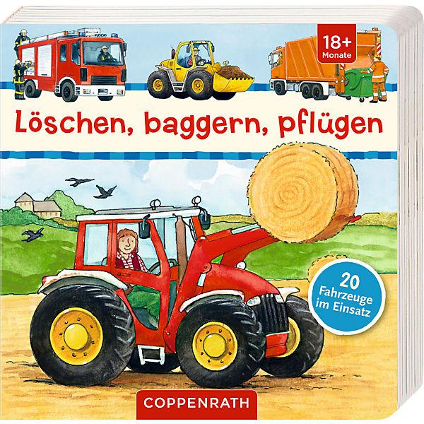 Löschen, baggern, pflügen, Coppenrath Verlag