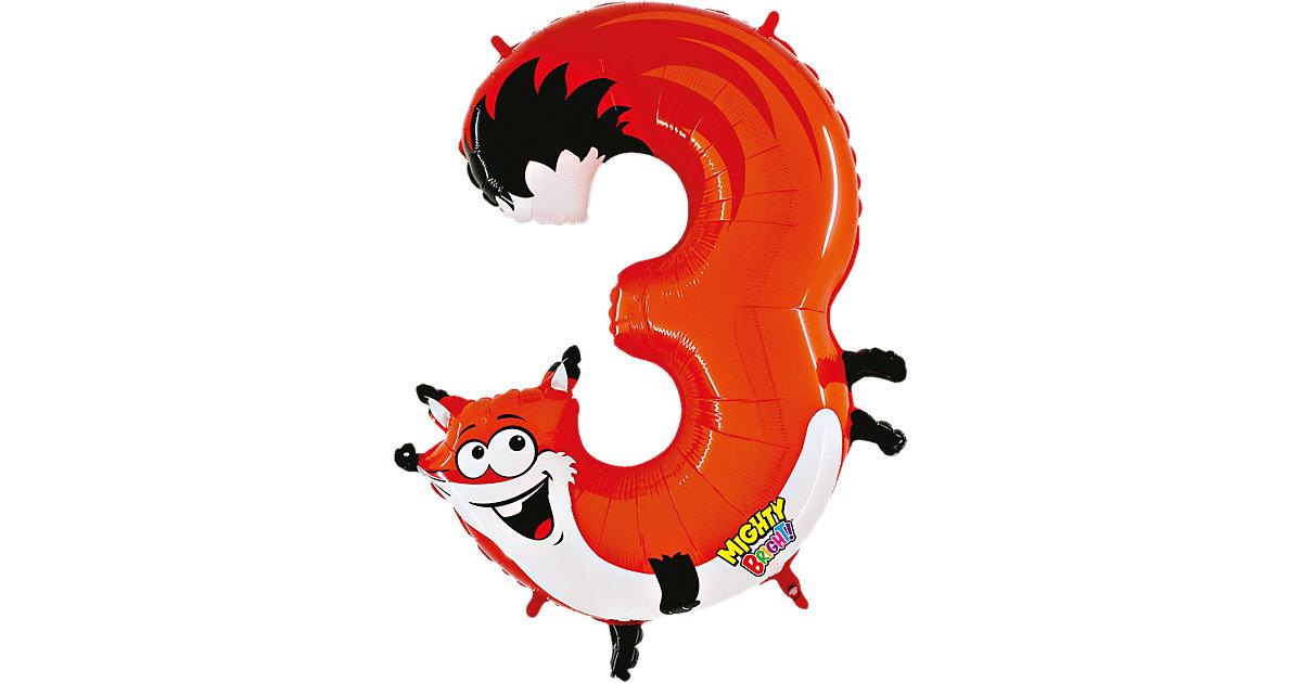 Ballon Zahl 3 Fuchs