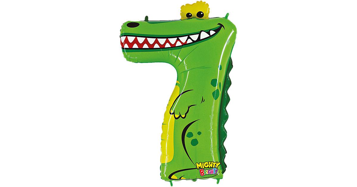 Ballon Zahl 7 Krokodil