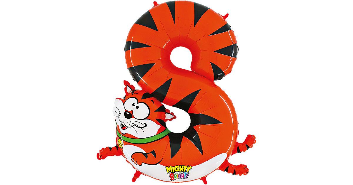Ballon Zahl 8 Katze