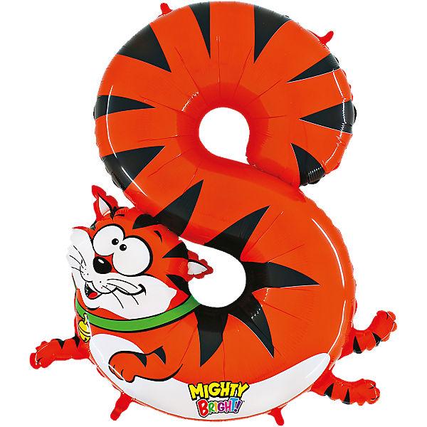 Ballon Zahl 8 Katze, Karaloon