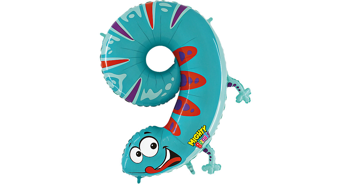 Ballon Zahl 9 Gecko