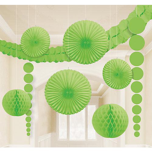 Amscan Dekoset grün, 9-tlg.