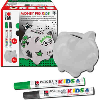 Porzellanfarbe Kreativset Spardose Money Pig