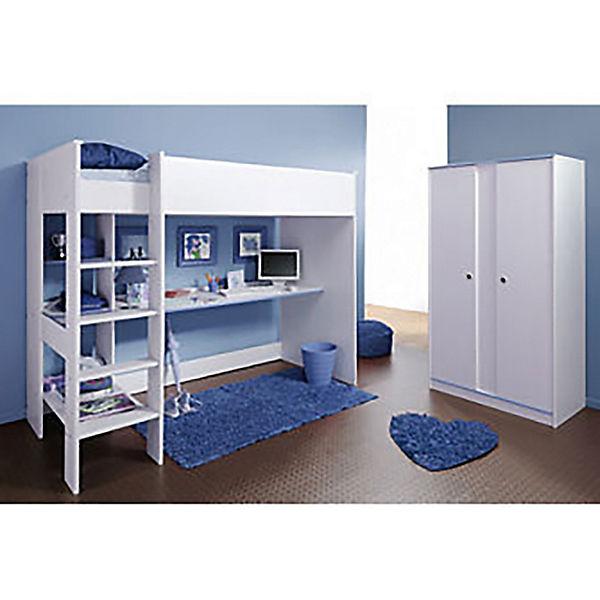 komplettzimmer smoozy 2 tlg hochbett inkl schreibtisch. Black Bedroom Furniture Sets. Home Design Ideas