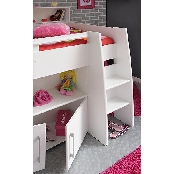 hochbett swan 4 tlg bett schreibtisch kommode. Black Bedroom Furniture Sets. Home Design Ideas